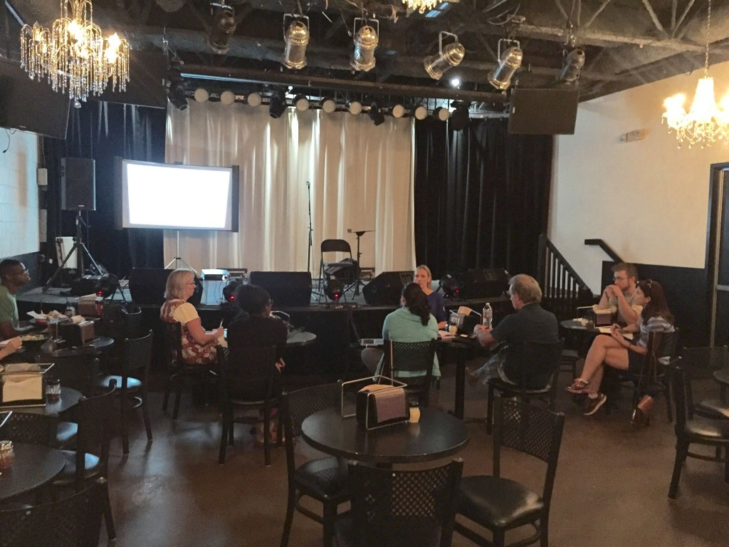 Katey Laurel gives a seminar about music business at The Walnut Room