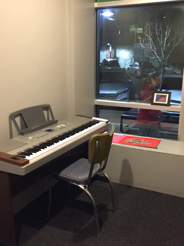 Inside our Lone Tree vocal studio