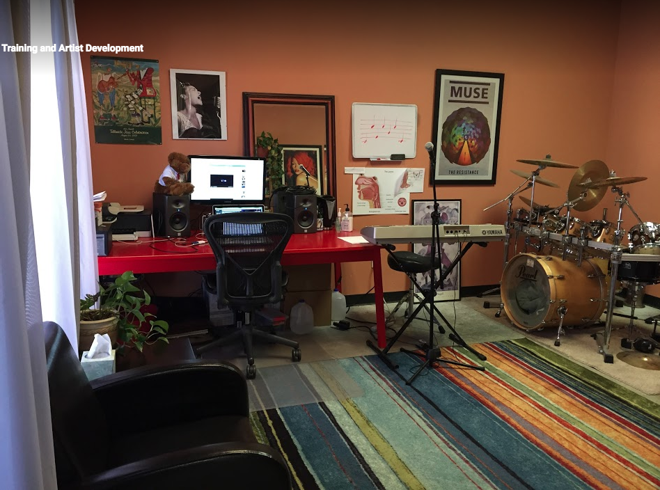 Inside our Lafayette vocal studio at Dog House Music