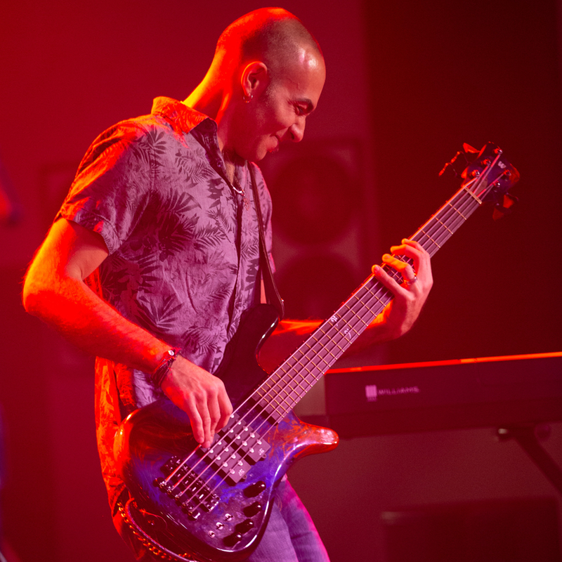Bass guitar player